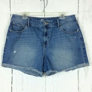 Old Navy Blue Denim Zip Up Shorts 16
